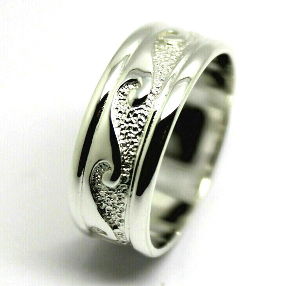 KAEDESIGNS NEW SOLID GENUINE STERLING SILVER 925 SURF WAVE RING SIZE X