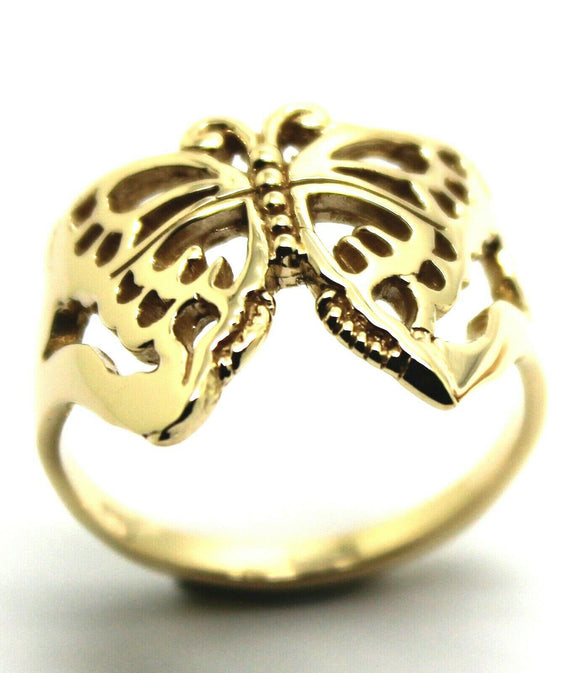 Kaedesigns New Size T Solid 9ct Yellow, Rose or White Gold Filigree Butterfly Ring 236