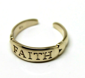 Kaedesigns, Brand New 9ct Yellow & White or Rose Gold Faith Toe Ring custom made