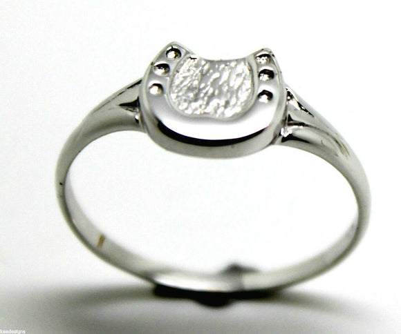 Size Q Kaedesigns, New Genuine Sterling Silver / 925, Lucky Horse Shoe Ring 226