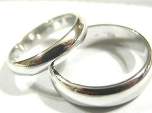 Kaedesigns Genuine 2 X Custom Made Solid 18ct 750 White Gold Wedding Bands Rings