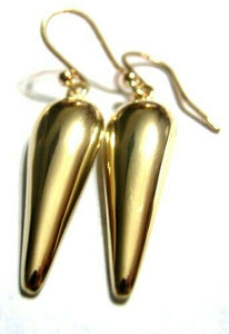 Kaedesigns Genuine 9ct 9kt Solid Yellow, Rose Or White Gold Half Tear Drop Hook Earrings
