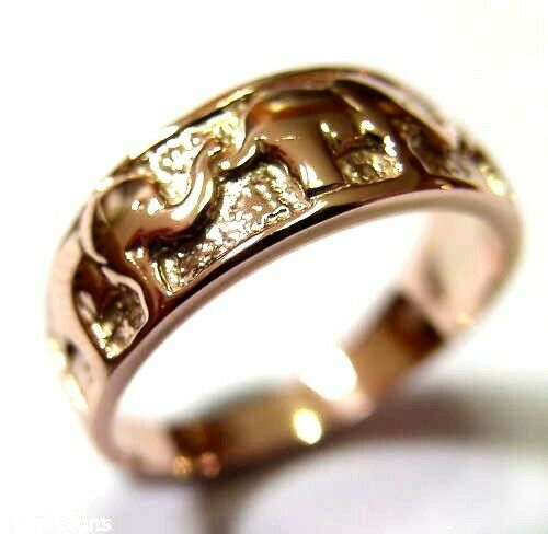 Kaedesigns Genuine New 18ct Gold Solid Yellow, Rose or White Gold Lucky Elephant Ring 209
