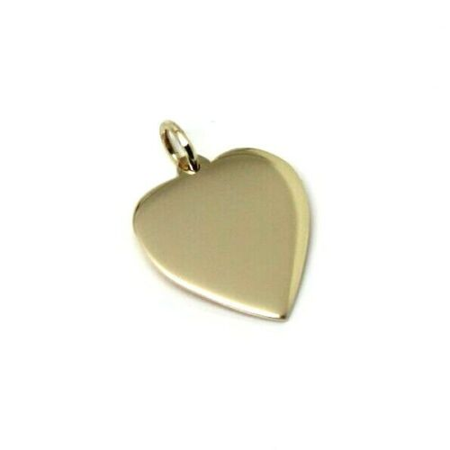 NEW Genuine 375 9ct Yellow or Rose or White Gold Small HEART SHIELD Pendant