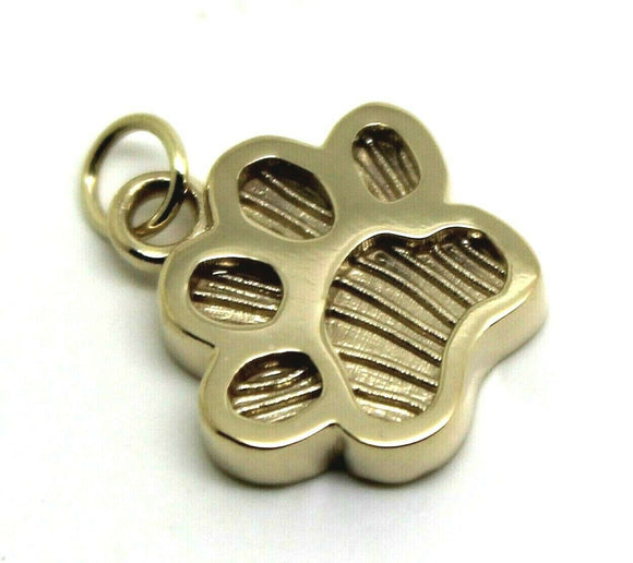 KAEDESIGNS,Genuine 9ct Yellow or Rose or White Gold charm Dog Animal PAW Pendant