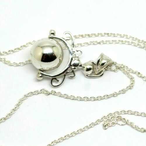 Kaedesign, Sterling Silver Chain Belcher 60cm Necklace & Ball Spinner Pendant