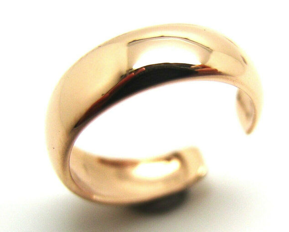 Kaedesigns Genuine New Solid Dome 9ct 9kt Rose Gold 375 Plain Toe Ring 231