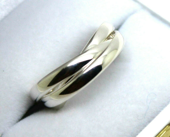 STERLING SILVER  SIZE O 1/2 RUSSIAN WEDDING BAND RING