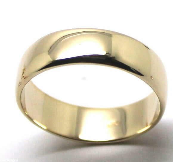 6mm Genuine Solid 9ct 9k Yellow Gold Wedding Band Ring Size N/7 To Z+4/15