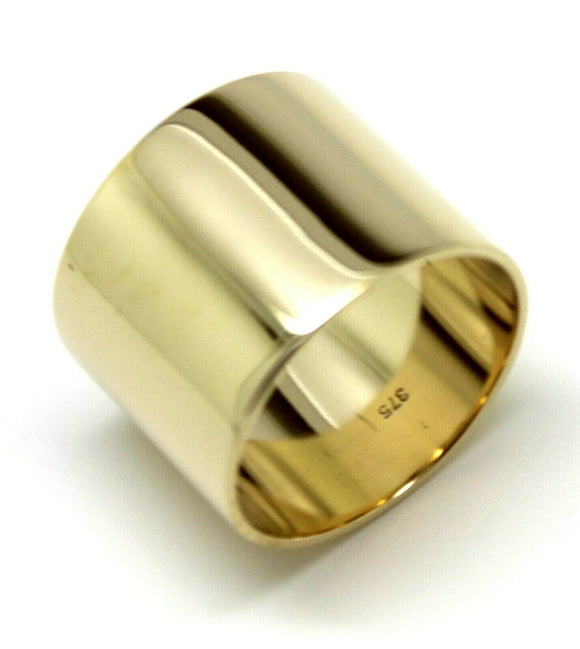 Size R Genuine Solid 9ct Yellow, Rose or White Gold / 375 Full 16mm Extra Wide Band Ring