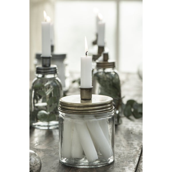 Candle Jar Holder Including Candles
