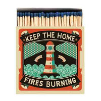 Keep The Homefires Burning Letterpress Design Luxury Matches