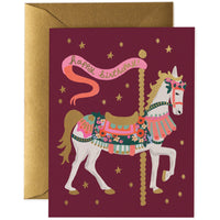 Carousel Happy Birthday Card - Rifle Paper Co