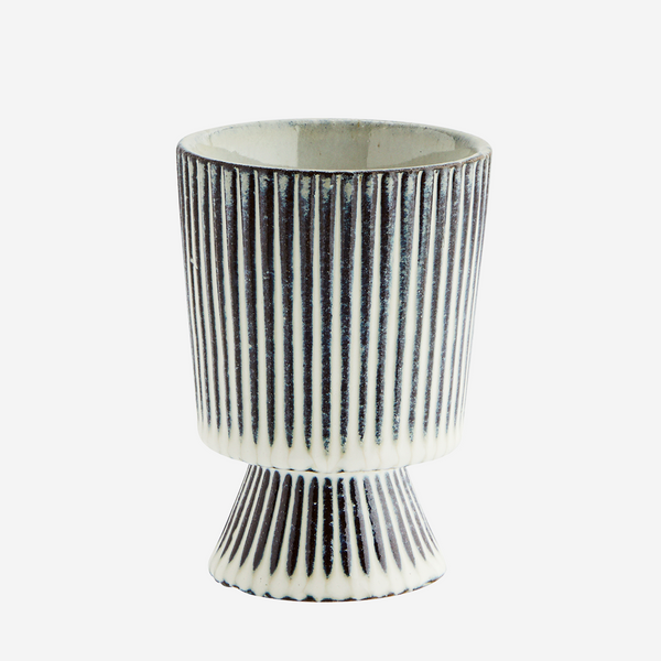 Striped Flower Pot