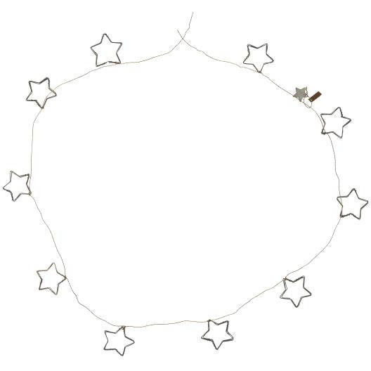Wire Star Garland