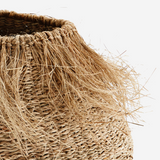 Sea Grass Fringed Basket
