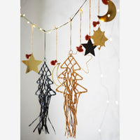 Hanging Gold Stars Set Of Two