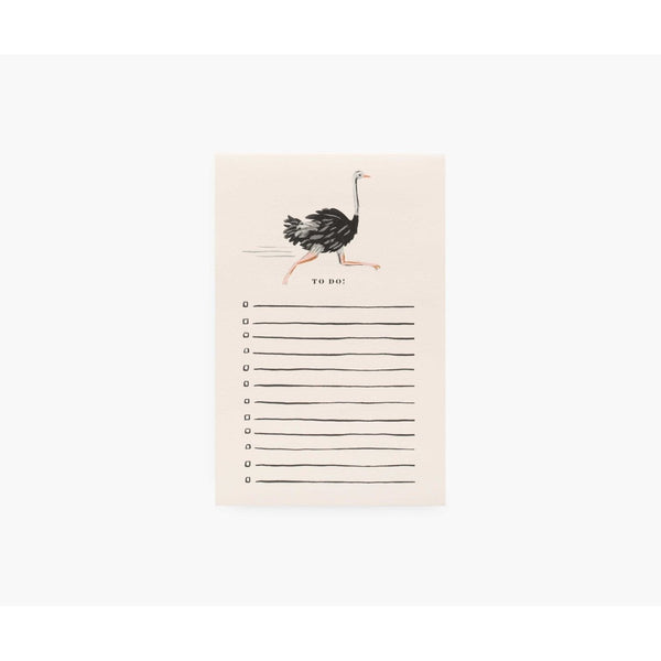 Rifle Paper Co Ostrich To Do Notepad