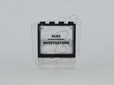 ALIAS INVESTIGATIONS Custom PAD PRINTED Window Pane