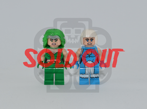 FIRE & ICE V1 Custom PAD PRINTED Minifigures