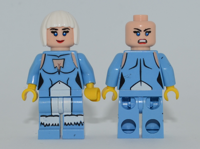ICE Minifigure MISPRINT Medium Blue