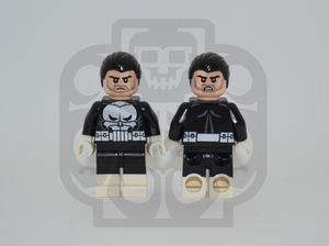 THE PUNISHER V2 Custom PAD PRINTED Minifigure