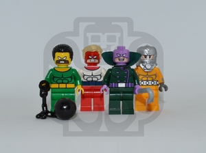 WRECKING CREW V1 Custom PAD PRINTED Minifigures