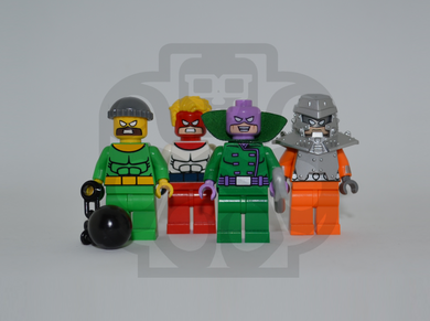 WRECKING CREW V2 Custom PAD PRINTED Minifigures
