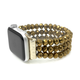 Hematite gold beaded band