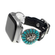 Black turquoise flower concho band