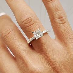 White Gold Solitaire Diamond Engagement Ring | 1.05 Carat Total Weight