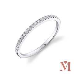 White Gold Prong Set Diamond Band|0.20 Carat Total Weight