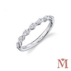 White Gold Marquise Diamond Band|0.50 Carat Total Weight