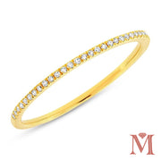 Yellow Gold Prong Set Diamond Band|0.10 Carat Total Weight