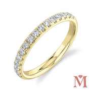 Yellow Gold Prong Set Diamond Band|0.40 Carat Total Weight