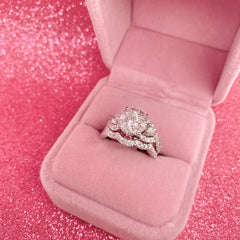 Twisted Pavé Double Halo Round Engagement Ring | 2.06 Carat Total Weight