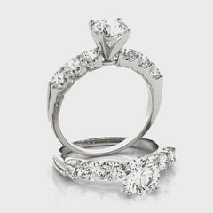 Round Diamond Prong Set Engagement Ring | 1.38 Carat Total Weight