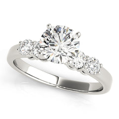 Round Diamond Prong Set Engagement Ring | 0.88 Carat Total Weight