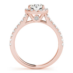 Round Diamond Halo Pavé Engagement Ring| 0.83 Carat Total Weight