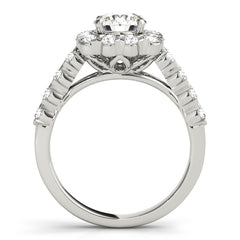 Round Diamond Cushion Halo Ring | 2.00 Carat Total Weight