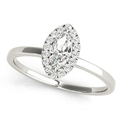 Marquise Diamond Halo Ring | 0.26 Carat Total Weight
