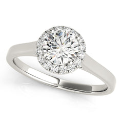 Round Diamond Halo Ring | 0.35 Carat Total Weight