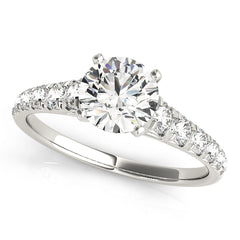 Round Diamond Prong Set Engagement Ring | 0.50 Carat Total Weight