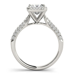 Cushion Diamond Halo Pavé Engagement Ring | 0.38 Carat Total Weight