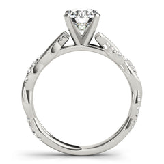 Round Diamond Twist Engagement Ring | 0.20 Carat Total Weight