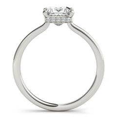 Cushion Diamond Hidden Halo Engagement Ring | 0.33 Carat Total Weight