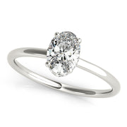 Oval Diamond Hidden Halo Engagement Ring | 0.30 Carat Total Weight