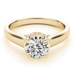 Round Diamond Hidden Halo Engagement Ring | 0.10 Carat Total Weight