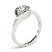 Round Diamond Freeform Engagement Ring