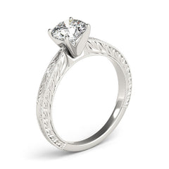 Round Diamond Fancy Tiffany Engagement Ring